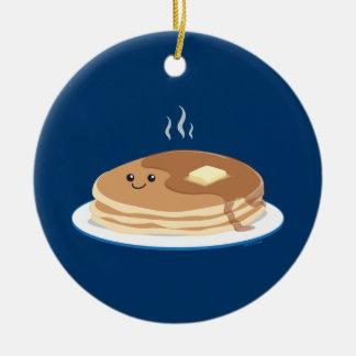 Pancakes Ceramic Ornament