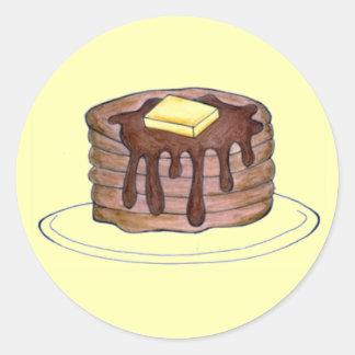 Pancakes Flapjacks Butter Syrup Pancake Stickers