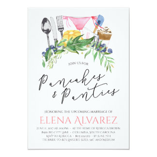 Pancakes & Panties Lingerie Shower Invite 5x7