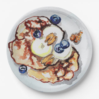 Pancakes Paper Plate