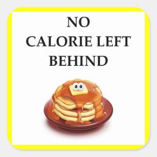 pancakes square sticker