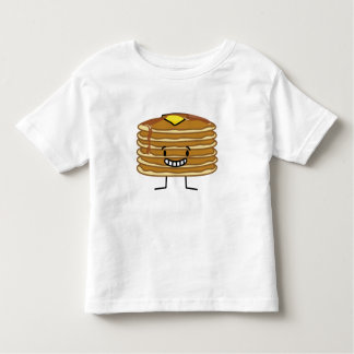 Pancakes stack butter syrup fluffy breakfast toddler T-Shirt