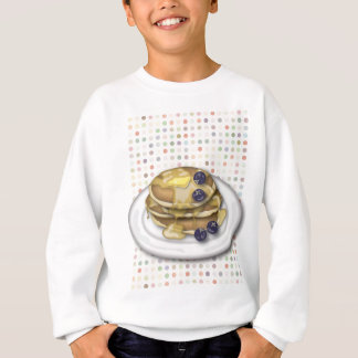 Pancakes With Syrup And Blueberries Sweatshirt