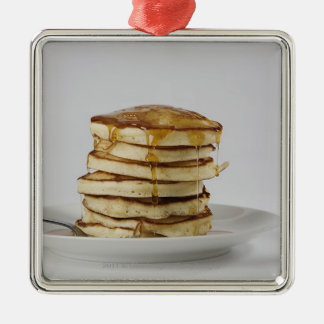 Pancakes with syrup metal ornament