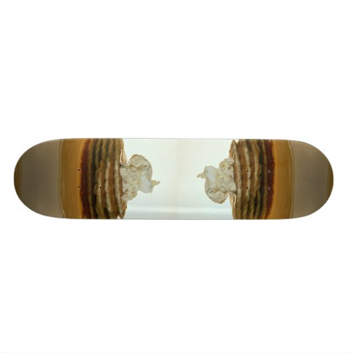 Pancakes with whipped butter skate decks