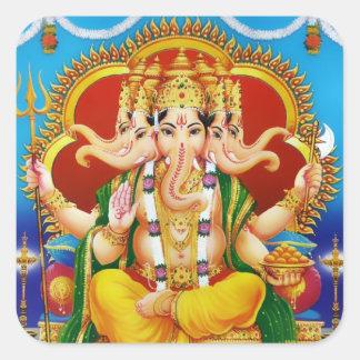 Panchamukhi Ganesha Stickers