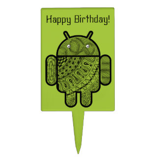 Pancho Doodle Character for the Android™ robot Cake Pick