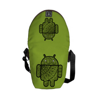 Pancho Doodle Character for the Android™ robot Commuter Bags