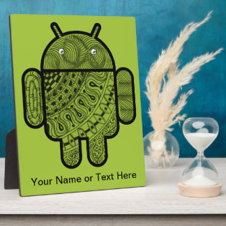 Pancho Doodle Character for the Android™ robot Display Plaques