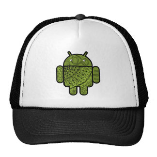 Pancho Doodle Character for the Android™ robot Mesh Hat