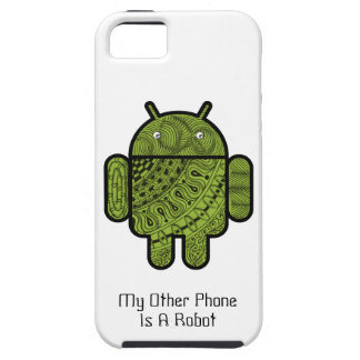 Pancho Doodle Character for the Android™ robot iPhone 5 Cases