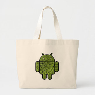 Pancho Doodle Character for the Android™ robot Jumbo Tote Bag