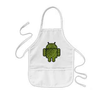 Pancho Doodle Character for the Android™ robot Kids Apron