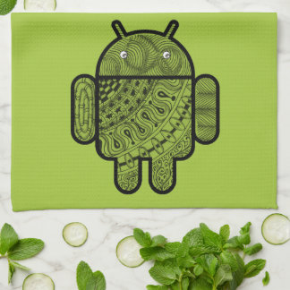 Pancho Doodle Character for the Android™ robot Kitchen Towels