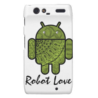 Pancho Doodle Character for the Android™ robot Motorola Droid RAZR Cases