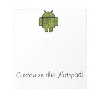 Pancho Doodle Character for the Android™ robot Note Pad