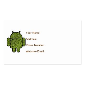 Pancho Doodle Character for the Android™ robot Pack Of Standard Business Cards