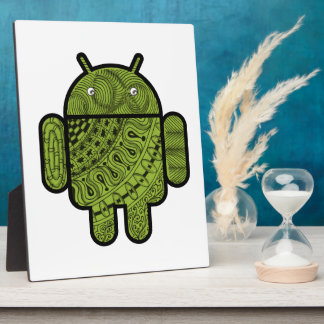 Pancho Doodle Character for the Android™ robot Photo Plaque