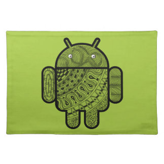 Pancho Doodle Character for the Android™ robot Place Mat