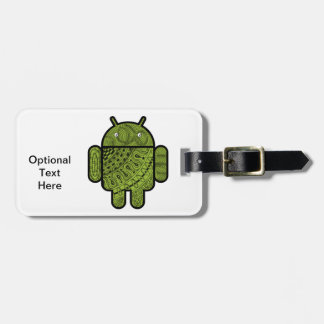 Pancho Doodle Character for the Android™ robot Tags For Bags