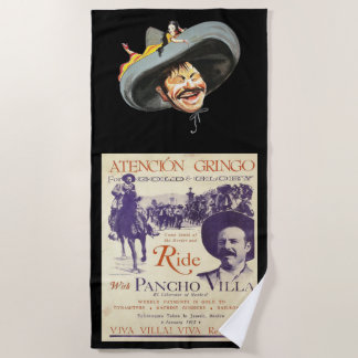 Pancho Villa Mexican Hero General Beach Towel
