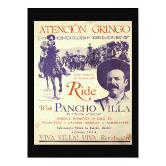 Pancho Villa Mexican Hero General Card