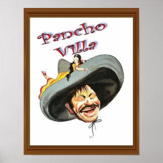 Pancho Villa Vintage Painted Retro Artwork Poster