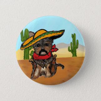 Pancho Yorkie Poo 6 Cm Round Badge