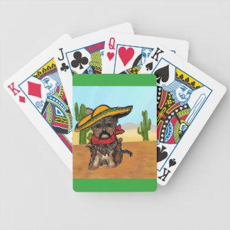 Pancho Yorkie Poo Bicycle Playing Cards