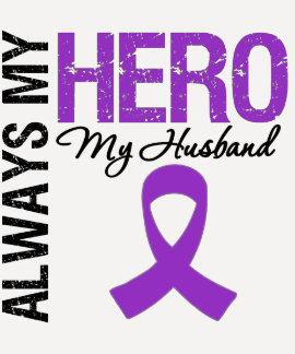 Pancreatic Cancer Always My Hero My Husband Tee Shirt