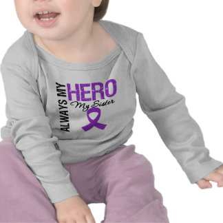 Pancreatic Cancer Always My Hero My Sister T-shirts