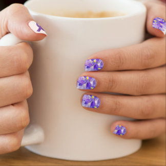 Pancreatic Cancer Awareness/Purple Iris Nails Minx Nail Art