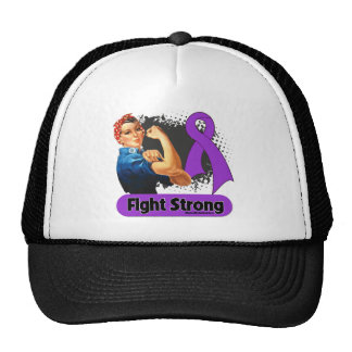 Pancreatic Cancer Fight Strong Rosie Riveter Cap