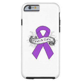 Pancreatic Cancer Find A Cure Ribbon Tough iPhone 6 Case