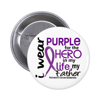 Pancreatic Cancer For My Hero My Father 2 6 Cm Round Badge