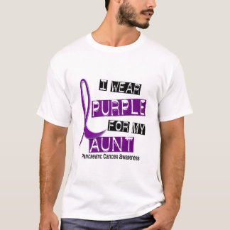 Pancreatic Cancer I WEAR PURPLE 37 Aunt T-Shirt