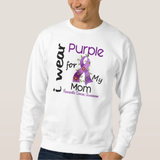 Pancreatic Cancer I Wear Purple For My Mom 43 Sweatshirt