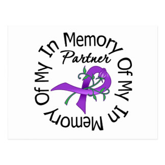 Pancreatic Cancer In Memory of My Partner Postcard