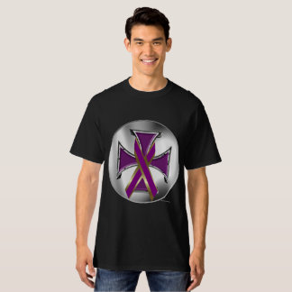 Pancreatic Cancer Iron Cross Men's Tall Tee