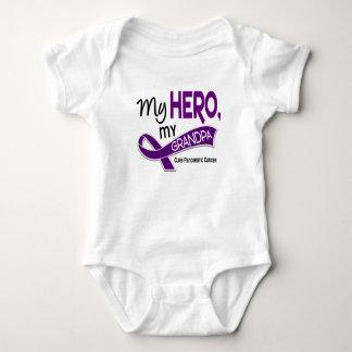 Pancreatic Cancer MY HERO MY GRANDPA 42 Baby Bodysuit