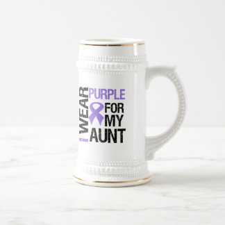 Pancreatic Cancer Purple Ribbon (Aunt) Beer Steins