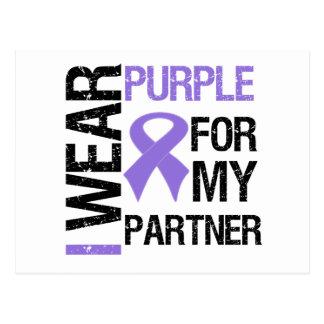 Pancreatic Cancer Purple Ribbon (Partner) Postcard
