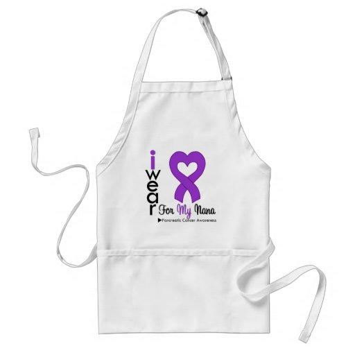 Pancreatic Cancer Purple Ribbon Support Nana Apron