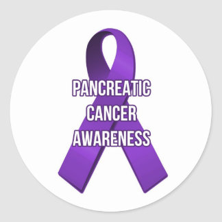 Pancreatic Cancer Ribbon Awareness Sticker