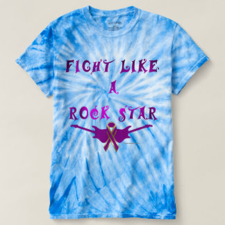 Pancreatic Cancer Rock Star Men's Tie-Dye Tee