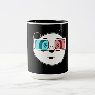 Panda - 3D Glasses (2) Coffee Mugs
