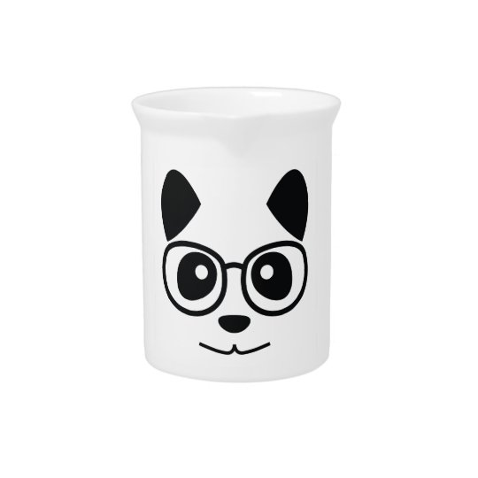 Panda And Glasses Beverage Pitchers