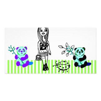 Panda Art Photocard Photo Cards