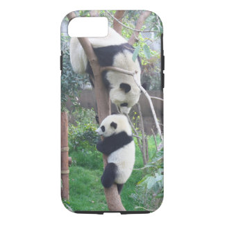 Panda Baby Learning to Climb a Tree iPhone 8/7 Case