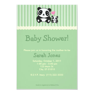 Panda Baby Shower - Green Card